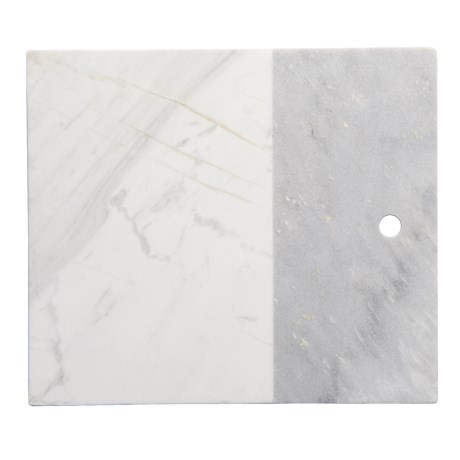 Core Bamboo Medici Two-Tone Marble Serving Board in Grey Marble