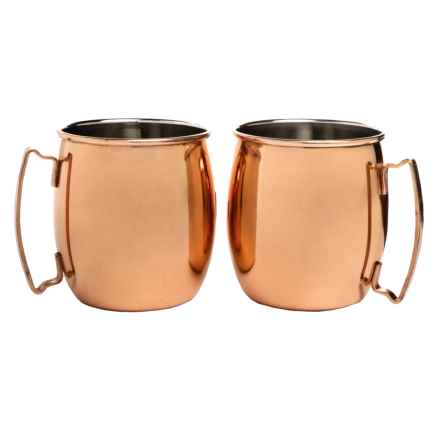 Core Bamboo Moscow Mule Mugs - 20 fl.oz., Set of 2 in Copper - Overstock