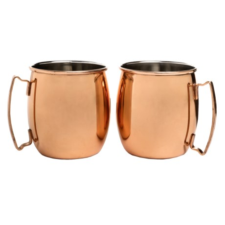 Core Bamboo Moscow Mule Mugs - 20 fl.oz., Set of 2 in Copper