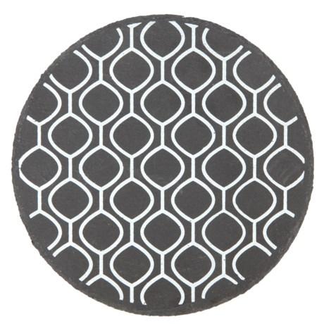 "Core Bamboo Round Slate Trivet - 8"" in Crochet"