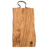 """Core Bamboo Rustic Cutting Board with Leather Strap - 16x8"""""""