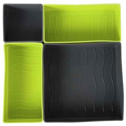 Core Bamboo Silicone Drawers - Set of 4 in Lime - Overstock