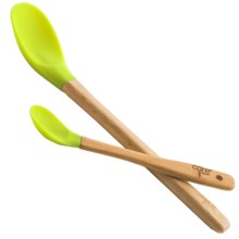 Core Bamboo Silicone Spoon Set - 2-Piece in Lime - Closeouts
