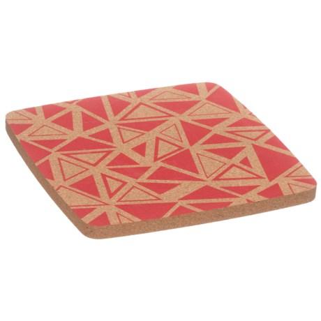 "Core Bamboo Square Cork Trivet - 8"" in Strawberry"