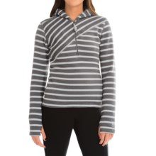 Core Concepts Alter Zip Sweater Hoodie - Fleece-Lined, Zip Neck (For Women) in Carbon - Closeouts