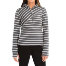 Core Concepts Alter Zip Sweater Hoodie - Fleece-Lined, Zip Neck (For Women) in Carbon - Closeouts