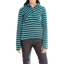 Core Concepts Alter Zip Sweater Hoodie - Fleece-Lined, Zip Neck (For Women) in Sea - Closeouts