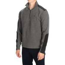 Core Concepts Pullover Sweater - Zip Neck (For Men) in Carbon - Closeouts