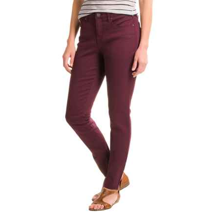 Core Replenishment Colored Skinny Jeans (For Women) in Burgundy - Closeouts
