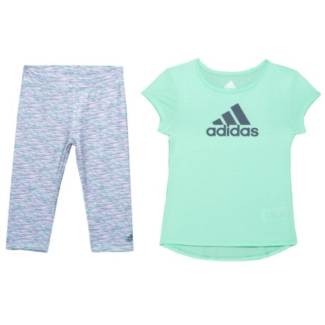 Image of Core T-Shirt and Leggings Set - Short Sleeve (For Toddler Girls)