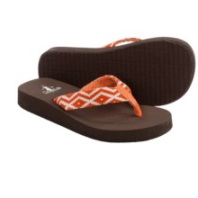 Corkys Kids Amber Flip-Flops (For Toddlers) in Orange - Closeouts