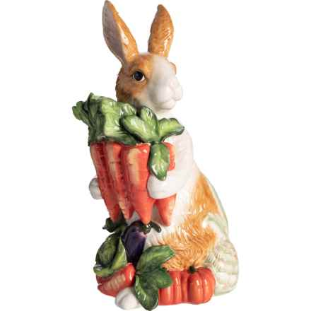 Corner Ruby Veggie Bunny Figurine in Multi - Closeouts