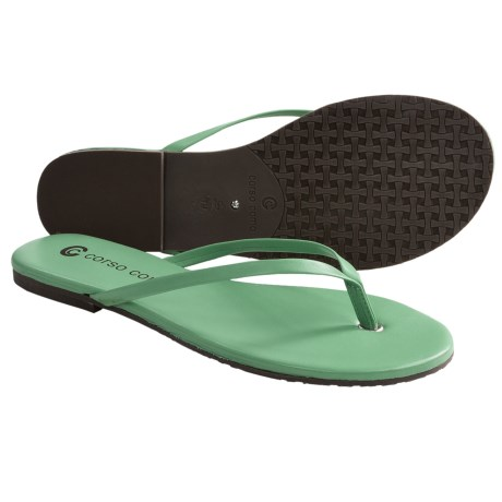 Corso Como Beachball Sandals - Leather, Flip-Flops (For Women) in Aqua