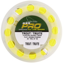 Cortland 333 Pro Floating Double Taper Long Belly Fly Fishing Line - 30 yds. in Yellow