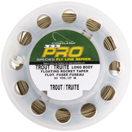 Cortland 333 Pro Floating Rocket Taper Long Belly Fly Fishing Line - 30 yds., Weight Forward in Earth Tone