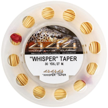Cortland 444 Classic Whisper Double Taper Fly Fishing Line - 30 yds. in Cream