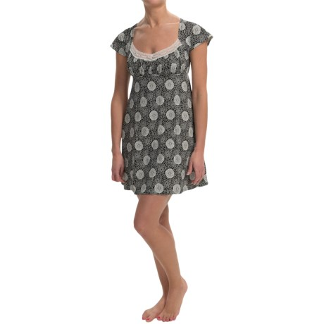 Cosabella Hortensia Nightgown Pima Cotton Modal, Short Sleeve (For Women)