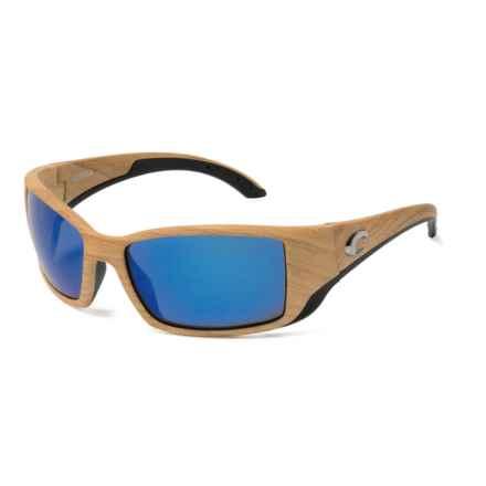 Costa Blackfin Sunglasses - Polarized 400G Glass Mirror Lenses in Ashwood/Blue Mirror - Closeouts