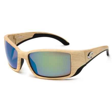 Costa Blackfin Sunglasses - Polarized 400G Glass Mirror Lenses in Ashwood/Green Mirror - Closeouts