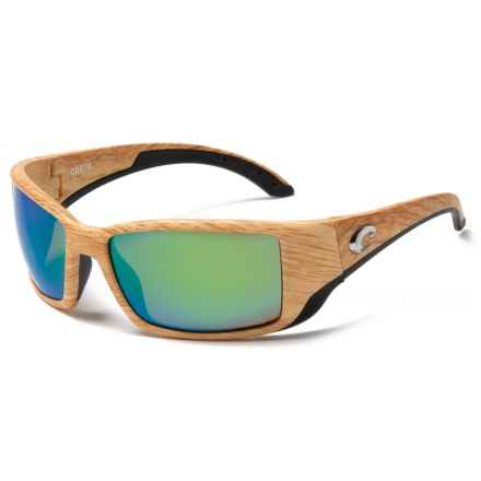 Costa Blackfin Sunglasses - Polarized Mirror 580P Lenses in Ashwood/Green - Closeouts