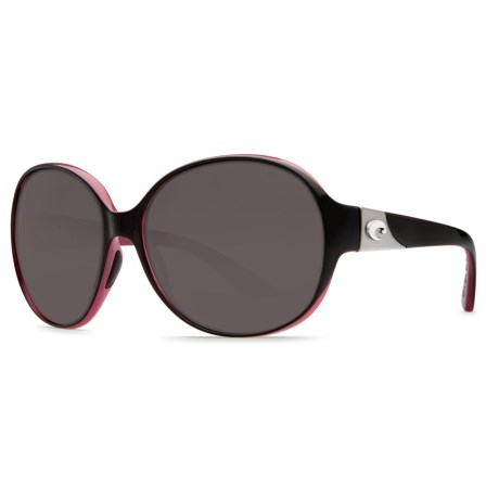 Costa Blenny Sunglasses - Polarized 580P Lenses (For Women) in Black Coral Gray