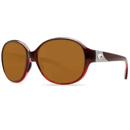 Costa Blenny Sunglasses - Polarized 580P Lenses (For Women) in Pomegranate Fade/Amber - Closeouts