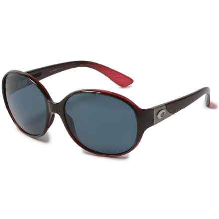 Costa Blenny Sunglasses - Polarized 580P Lenses (For Women) in Pomegranate Fade/Gray - Closeouts