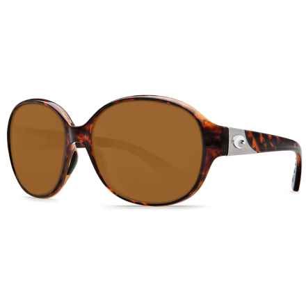 Costa Blenny Sunglasses - Polarized 580P Lenses (For Women) in Tortoise/Amber - Closeouts