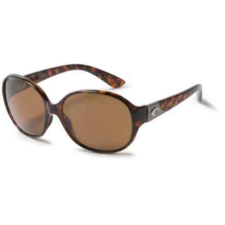 Costa Blenny Sunglasses - Polarized 580P Lenses (For Women) in Tortoise/Amber - Overstock