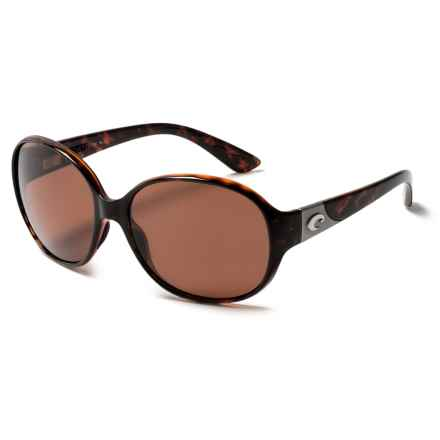 Costa Blenny Sunglasses - Polarized 580P Lenses (For Women) in Tortoise/Copper - Closeouts