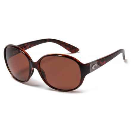 Costa Blenny Sunglasses - Polarized 580P Lenses (For Women) in Tortoise Copper - Closeouts