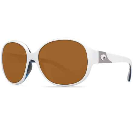 Costa Blenny Sunglasses - Polarized 580P Lenses (For Women) in White Topaz/Amber - Closeouts