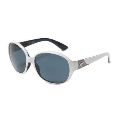 Costa Blenny Sunglasses - Polarized 580P Lenses (For Women) in White/Topaz Gray - Closeouts
