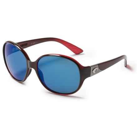 Costa Blenny Sunglasses - Polarized Mirrored 580P Lenses (For Women) in Pomegranate Fade/Blue Mirror - Closeouts