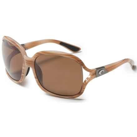 Costa Boga Sunglasses - Polarized 580P Lenses (For Women) in Morena/Amber - Closeouts