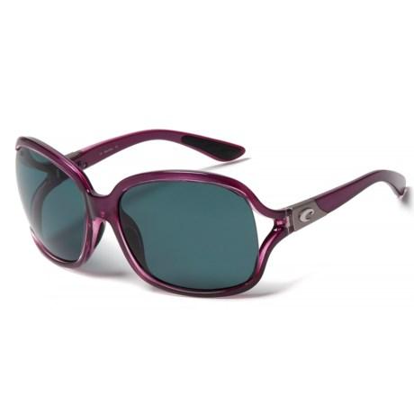 Costa Boga Sunglasses - Polarized 580P Lenses (For Women) in Orchid/Gray