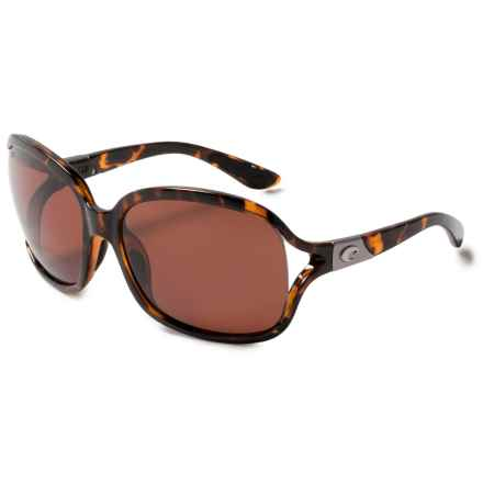 Costa Boga Sunglasses - Polarized 580P Lenses (For Women) in Retro Tortoise/Copper - Closeouts