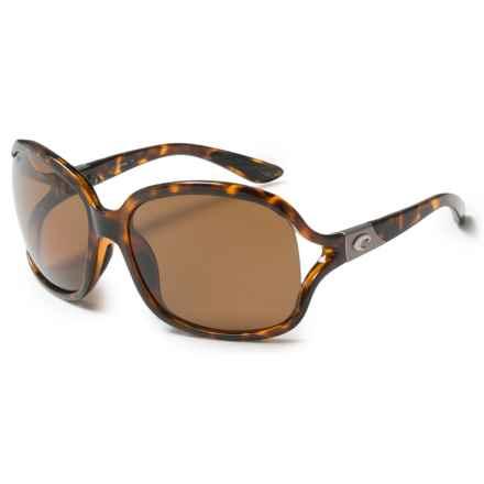 Costa Boga Sunglasses - Polarized 580P Lenses (For Women) in Retro Totoise/Amber - Closeouts