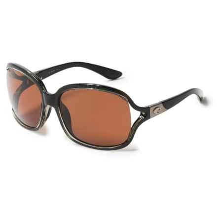 Costa Boga Sunglasses - Polarized 580P Lenses (For Women) in Squall Copper - Closeouts
