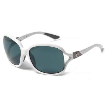 Costa Boga Sunglasses - Polarized 580P Lenses (For Women) in White/Gray - Closeouts