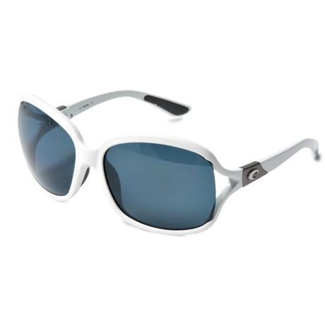 Costa Boga Sunglasses - Polarized 580P Lenses (For Women) in White Raw/Gray