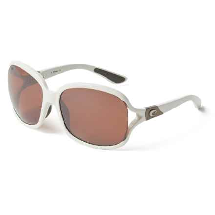 Costa Boga Sunglasses - Polarized 580P Mirror Lenses (For Women) in White Silver Mirror - Closeouts