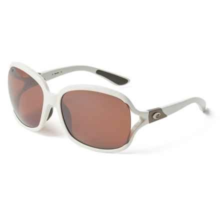 Costa Boga Sunglasses - Polarized 580P Mirror Lenses (For Women) in White Silver Mirror - Closeouts