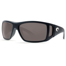 Costa Bomba Sunglasses - Polarized 400G Glass Lenses in Black/Dark Grey 400G - Closeouts