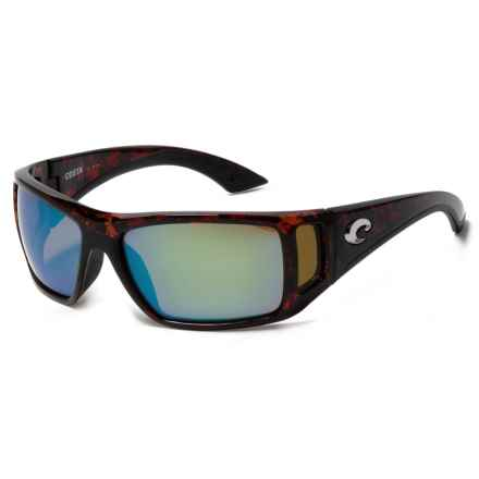 Costa Bomba Sunglasses - Polarized 400G Glass Lenses in Tortoise/Green Mirror - Closeouts