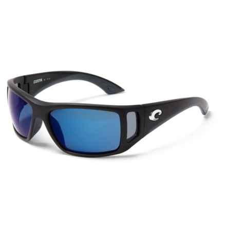 Costa Bomba Sunglasses - Polarized 580P Mirror Lenses in Black/Blue Mirror - Overstock