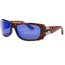 Costa Bonita Sunglasses - Polarized 400G LightWAVE® Glass Mirror Lenses in Tortoise/Blue Mirror 400G