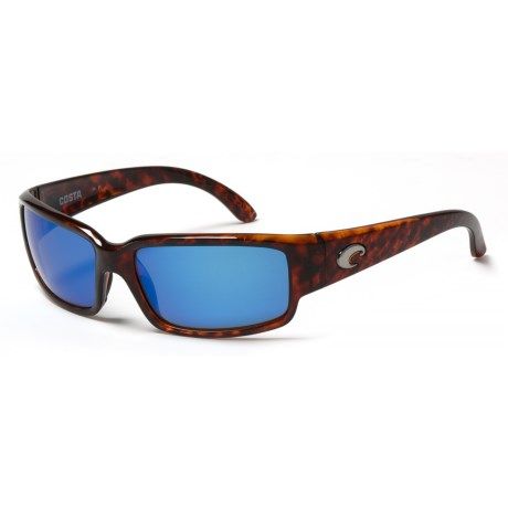 Costa Cabalitto Sunglasses - Polarized 400G Glass Lenses in Tortoise/Blue