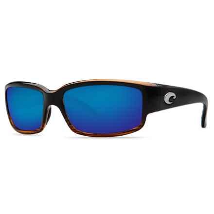 Costa Caballito Sunglasses - Polarized 400G LightWAVE® Glass Mirror Lenses in Coconut Fade/Blue Mirror - Closeouts