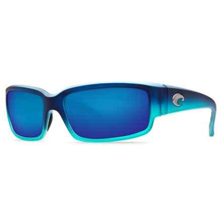 Costa Caballito Sunglasses - Polarized 400G LightWAVE® Glass Mirror Lenses in Matte Caribbean Fade/Blue Mirror - Closeouts